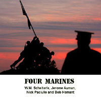 Four Marines cover